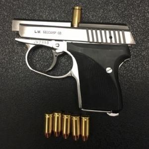 TSA officers detected this handgun at one of the checkpoints at DCA on Thursday morning, Jan. 4. (Photo courtesy of TSA.)