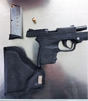 TSA officers detected this handgun at one of the checkpoints at DCA  Sunday, Oct. 1. (Photo courtesy of TSA.)