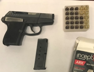 TSA officers detected this handgun at one of the checkpoints at DCA on Wednesday morning, April 4. (Photo courtesy of TSA.)