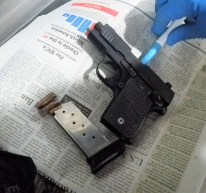 TSA officers at Newark Liberty International Airport detected this handgun in a traveler's carry-on bag on Thursday, May 30.