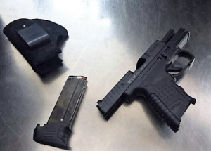 9 mm handgun was stopped by TSA officers at a Newark Liberty International Airport