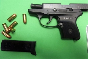 A Kentucky man was caught with this loaded gun in his carry-on bag at the Huntington Tri-State Airport checkpoint on Monday, June 11. (TSA photo)