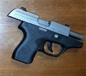 TSA officers prevented a woman from bringing this handgun past a TSA checkpoint on Wednesday, May 9th at Salisbury Regional Airport. (Photo courtesy of TSA.)
