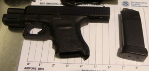 TSA officers prevented a man from bringing this loaded handgun onto an airplane on Saturday at BWI Airport. (TSA photo)