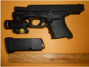 This loaded gun was detected by a TSA officer at the CHO Airport checkpoint on Monday, June 25. (TSA photo)