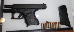 This .40 caliber semi-automatic handgun was detected by TSA officers in a man's carry-on bag yesterday (March 16) at Buffalo-Niagara International Airport. (Photo courtesy of TSA.)