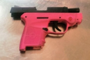 TSA officers prevented a woman from bringing this handgun onto an airplane last Friday afternoon, May 5, at BWI Airport. (Photo courtesy of TSA.)