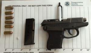 Handgun discovered by TSA