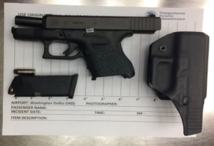 Firearm discovered by TSA at Dulles Airport