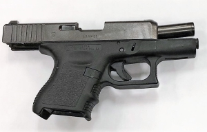 TSA officers at BWI International Airport detected this loaded handgun in a traveler's carry-on bag February 17. It was the eighth gun caught at the airport in the first eight weeks of the new year. The man was cited by police. (TSA photo)