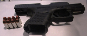 This loaded .40 caliber handgun was detected by TSA officers at the Newport News/Williamsburg International Airport checkpoint on Sunday. (Photo courtesy of TSA.)