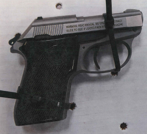 TSA officers at BWI detected this handgun in a traveler's carry-on bag on August 28. (TSA photo)