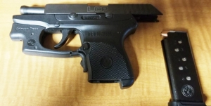 TSA officers at Harrisburg International Airport detected this loaded handgun in a passenger's carry-on bag on Friday. (TSA photo)