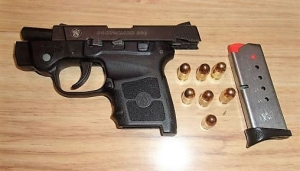 A West Virginia man was caught with this loaded gun in his carry-on bag at the Huntington Tri-State Airport checkpoint Monday, April 8.. (TSA photo)