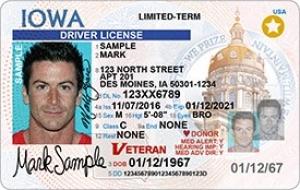 Iowa REAL ID Example
