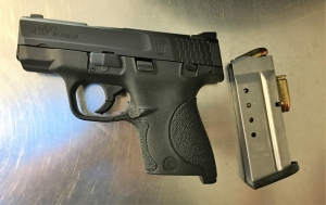 TSA officers detected this loaded handgun at one of the checkpoints at Dulles Airport on Tuesday, July 10th.  (Photo courtesy of TSA.)