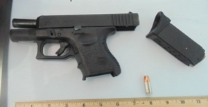 TSA officers prevented a man from bringing this loaded semi-automatic handgun onto an airplane on Friday at ISP Airport.