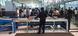 Passengers in JFK International Airport's TSA checkpoint in Terminal 4. (TSA photo)