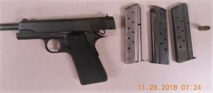 This loaded handgun was detected by TSA officers at Lehigh Valley International Airport on Monday. (TSA photo)