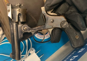 TSA officers at Newark Liberty International Airport detected this .32 caliber revolver in a traveler's carry-on bag on Thursday, March 21st. (TSA photo)