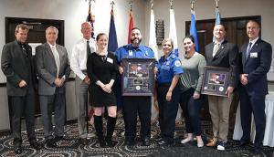 TSA Bradley International Airport captures state awards; four officers awarded for saving life