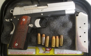 This .45 caliber handgun was detected by TSA officers at the Norfolk International Airport checkpoint on Thursday, April 20. It was loaded with six bullets.