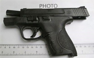 A Chesapeake, Virginia, man was caught with this loaded handgun in his carry-on bag at the Norfolk International Airport checkpoint Thursday, Aug. 30. (TSA photo)