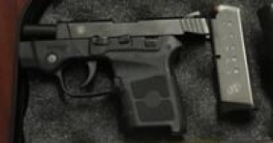 A Virginia Beach, Virginia, man was caught with this handgun in his carry-on bag at the Norfolk International Airport checkpoint on March 26th. (TSA photo)