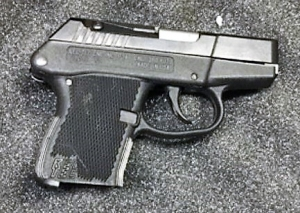 A Virginia Beach man was caught with this handgun in his carry-on bag at the Norfolk International Airport checkpoint on May 15.