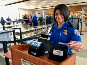 TSA Officer Christine DaSilveira from Norfolk International Airport has worked for TSA since 2007. (TSA photo)