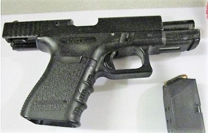 TSA officers at Pittsburgh International Airport prevented a Bethel Park man from bringing this loaded handgun onto an airplane on Wednesday, December 12. (TSA photo)