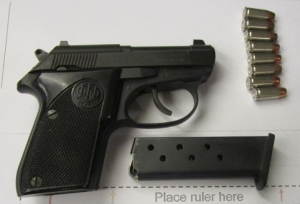 TSA officers at Pittsburgh International Airport prevented a woman from bringing this loaded handgun onto an airplane on Sunday, December 2.