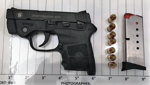 TSA officers prevented a man from bringing this loaded handgun onto an airplane on Thursday, July 12th at BWI Airport. (Photo courtesy of TSA.)