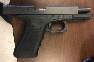 This loaded 9 mm handgun was detected by TSA officers in a passenger's carry-on bag at Richmond International Airport on February 26th. (TSA photo)