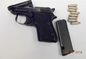This loaded semi-automatic handgun was stopped by TSA officers at a Richmond International Airport on Wednesday. (TSA photo)