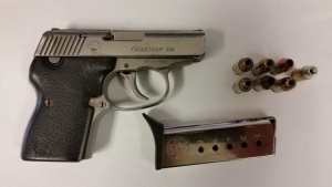 This loaded .38 caliber handgun was detected by TSA officers in a passenger's carry-on bag at Richmond International Airport on December 11th. (TSA photo)