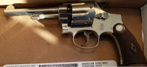 This revolver was stopped by TSA officers at the Roanoke-Blacksburg Regional Airport Friday, March 30. (TSA photo)