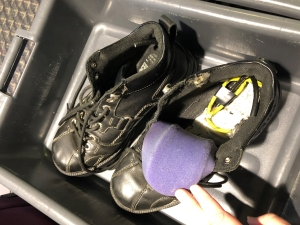 This is a replica of the 2001 bomb concealed in a terrorist's shoe.