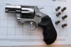 TSA officers detected this gun at the Greater Rochester International Airport checkpoint Saturday, Sept. 9. (Photo courtesy of TSA)