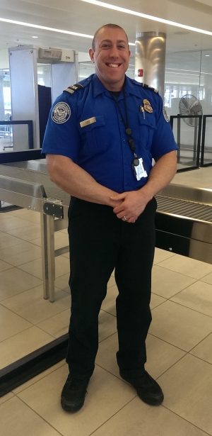 Supervisory TSA officer Jonas Cohen