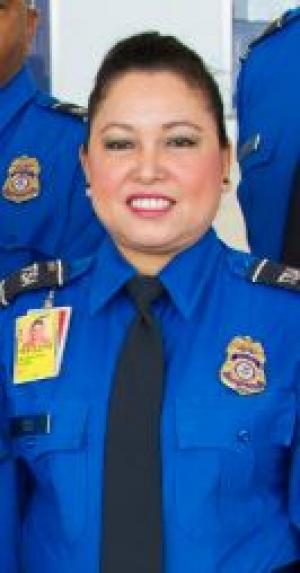 TSA officer Madeline Naill of Ronald Reagan Washington National Airport
