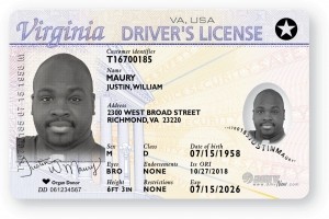 VA DMV Real ID Example