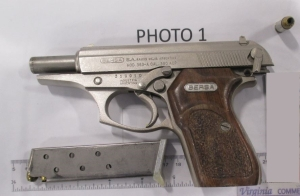 This handgun was loaded with six bullets, including one in the chamber, when it was spotted in a carry-on bag by a TSA officer who was monitoring the Newport News/Williamsburg International Airport checkpoint x-ray machine. (TSA photo)