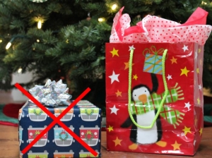Wrapped gifts vs gift bags