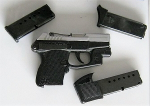 TSA officers detected this handgun in a man's carry-on bag at Yeager Airport on Wednesday, August 15. (Photo courtesy of TSA.)