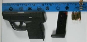 TSA officers detected this loaded handgun in a Huntington, West Virginia, man's carry-on bag Thanksgiving morning. (Photo courtesy of TSA.)