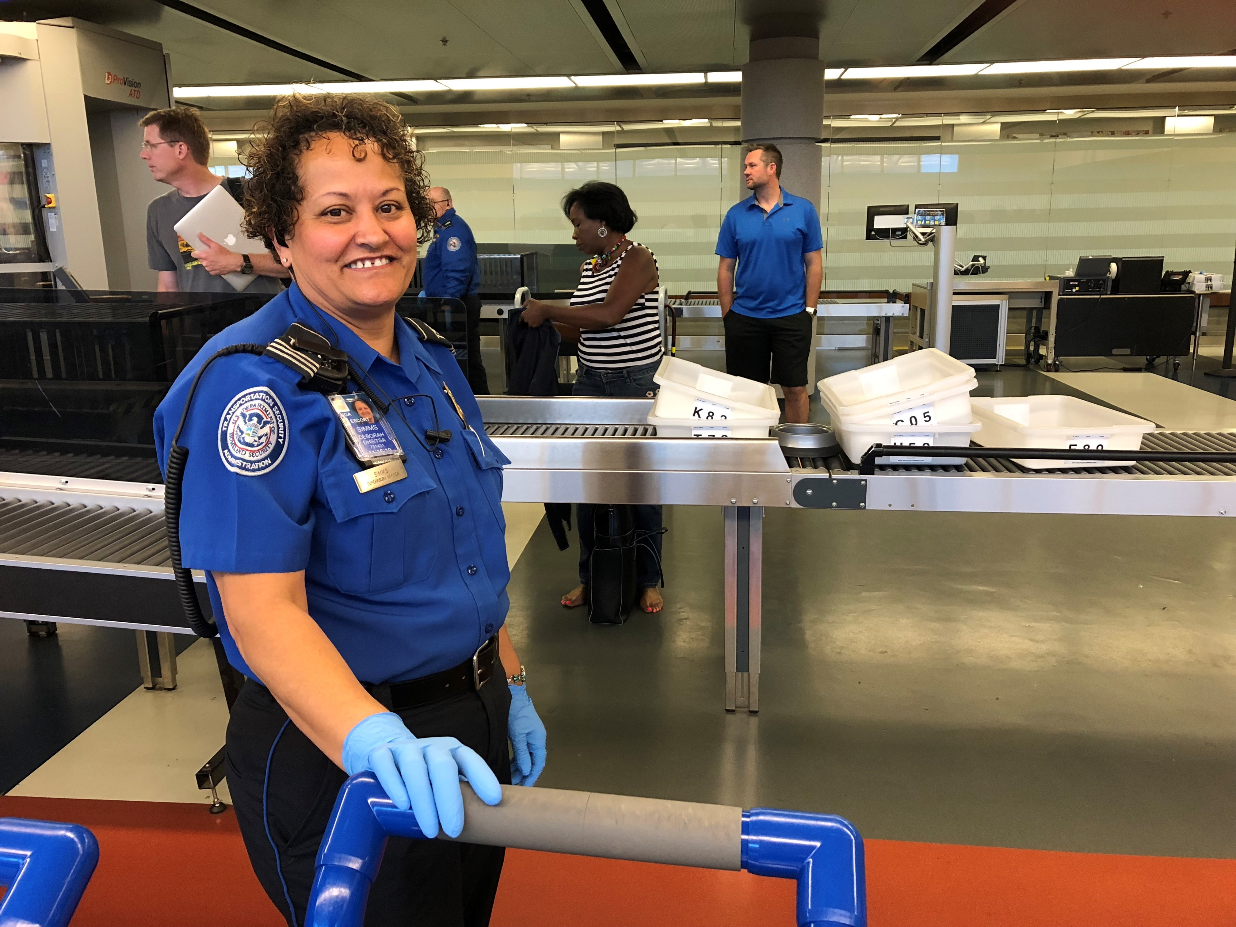 Supervisory TSA officer Deborah Simms has worked at Richmond International Airport since 2002 and shares some of her favorite travel tips. (TSA photo)