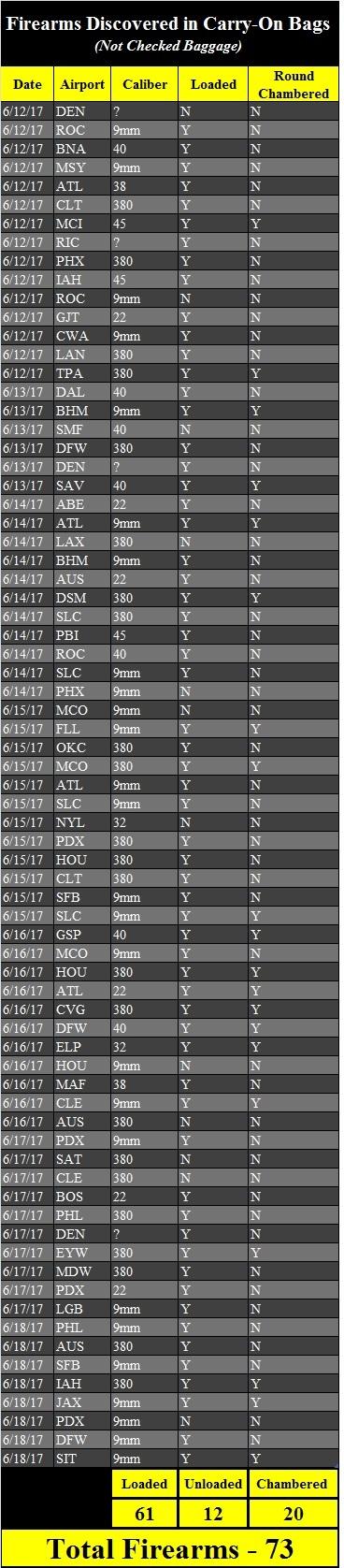 Firearm Discovery Spreadsheet